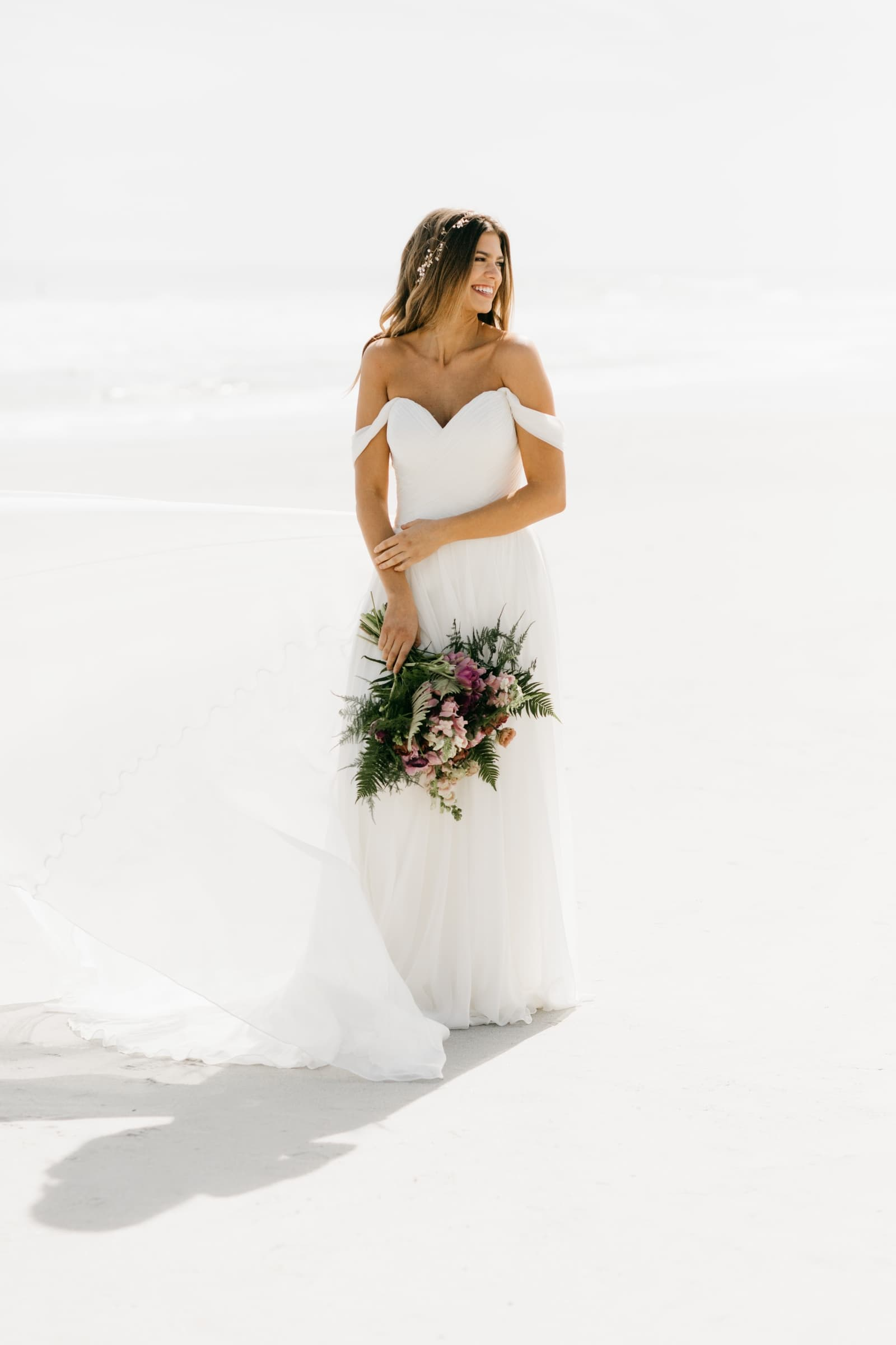 beach wedding dress jacksonville bride