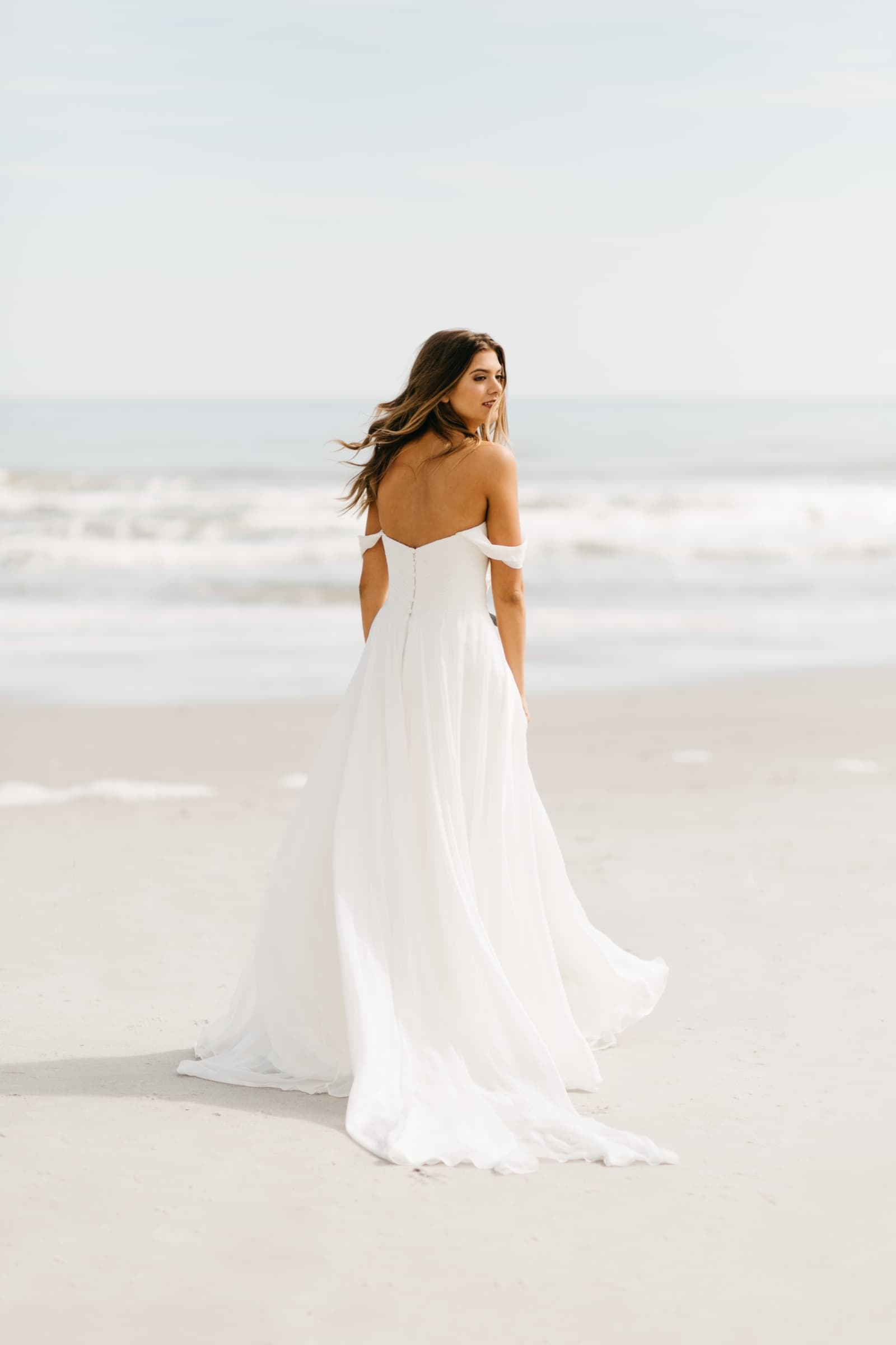 jacksonville bride beach wedding dress
