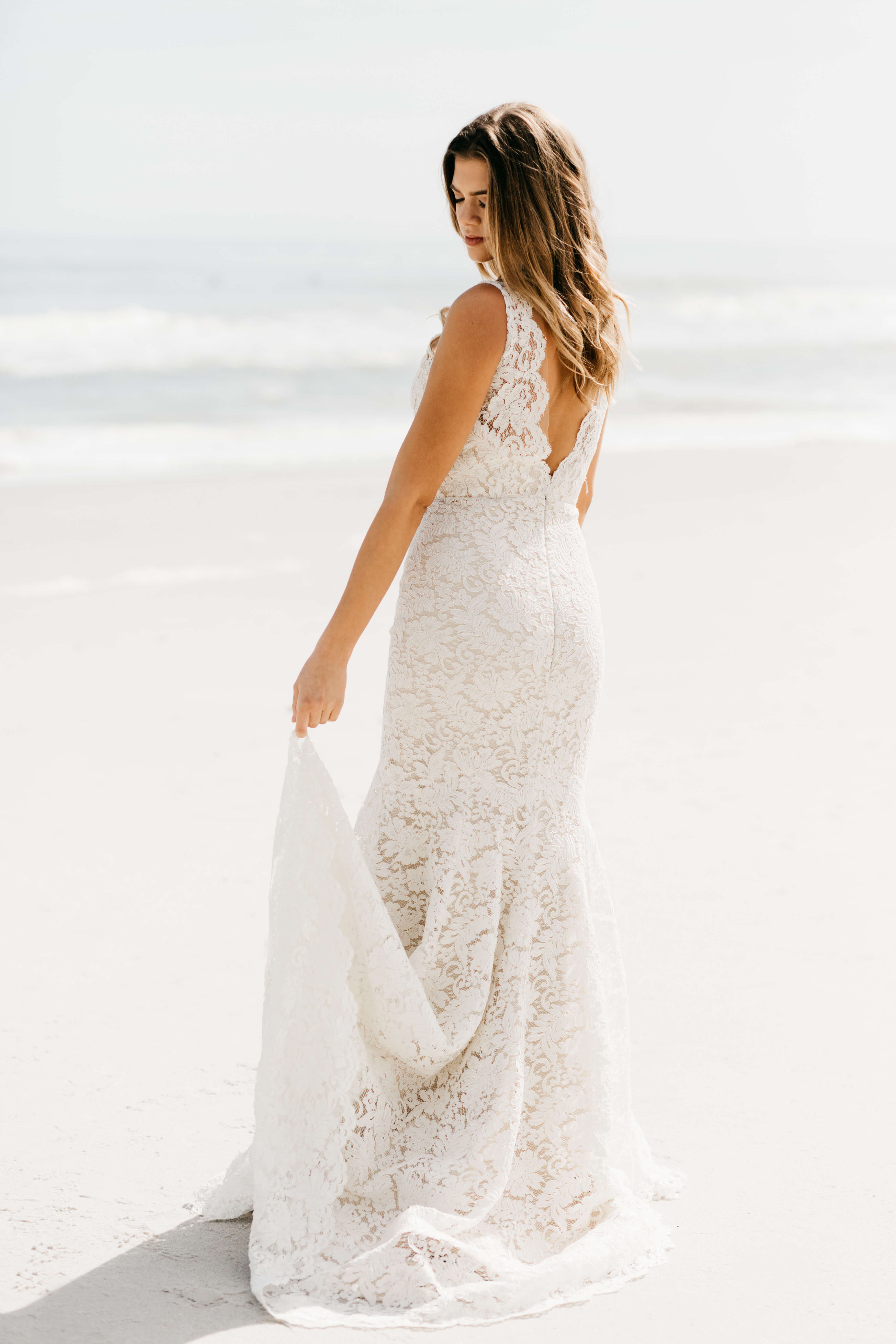 jacksonville bride beach wedding dress