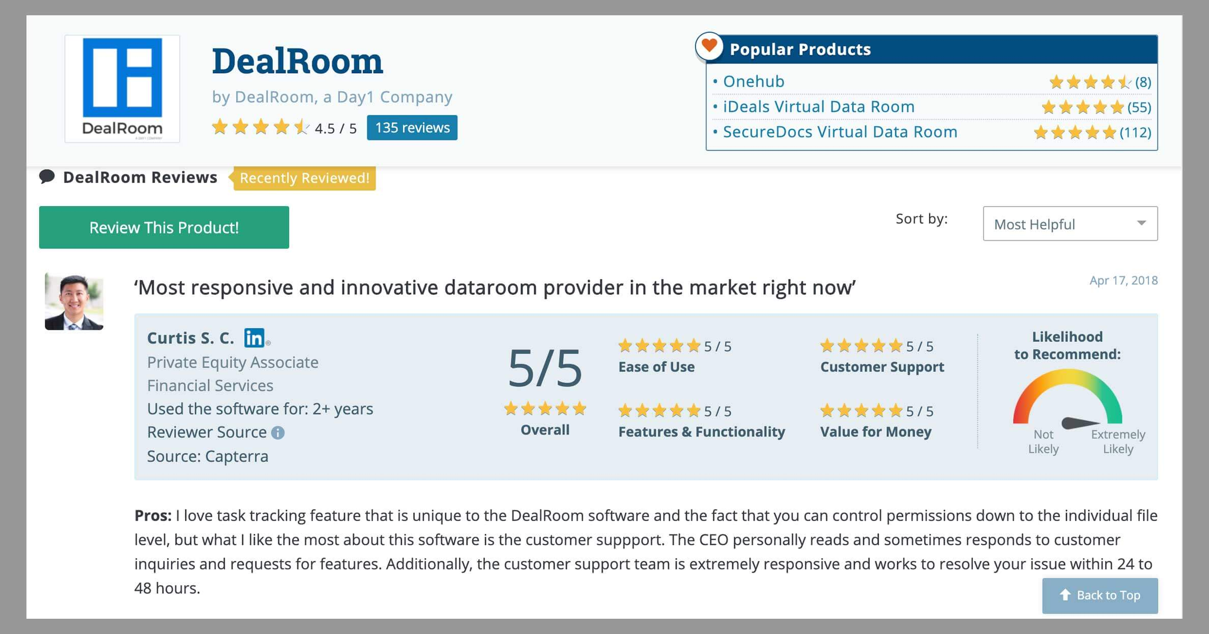 virtual data room review sites