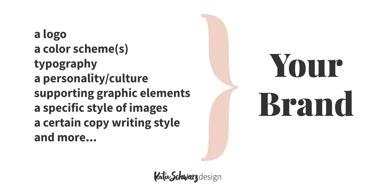 Your brand is more than just a logo- Katie Schwarz Design.