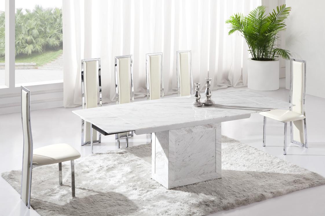 minimalist marble table