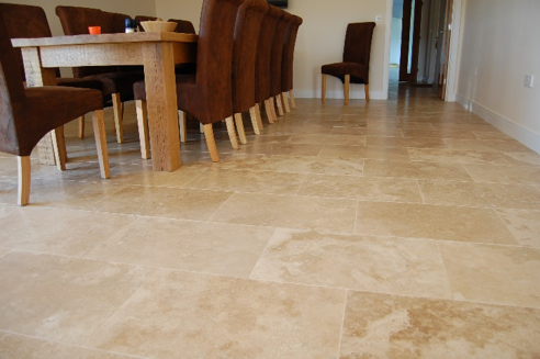 travertine floor restoring