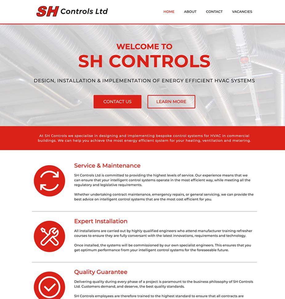 Lunalight Cheltenham's Responsive Website for SH Controls Bristol