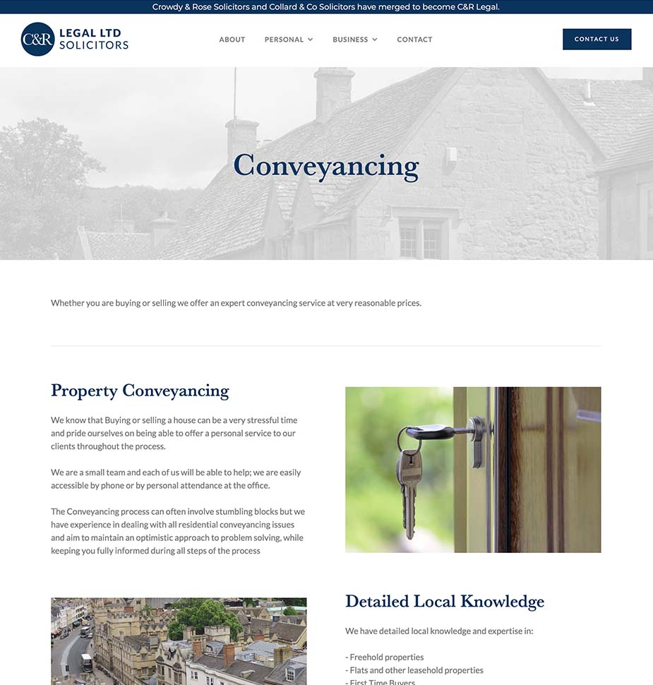 CandR Legal Solicitors Website by Lunalight Limited