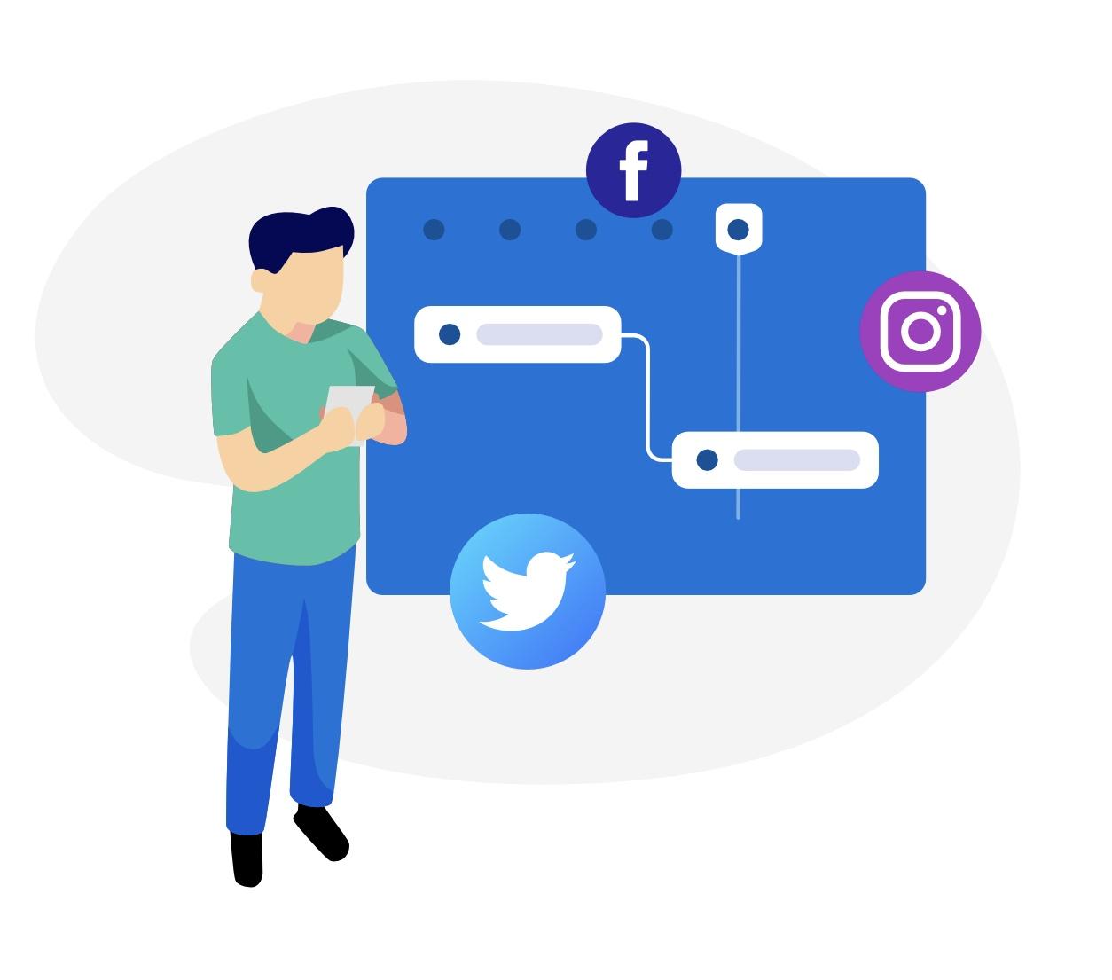 Social Media Planner Gantt Chart Template