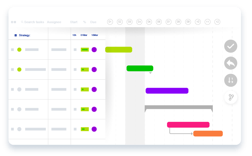 Online Gantt Chart Software Drag and Drog