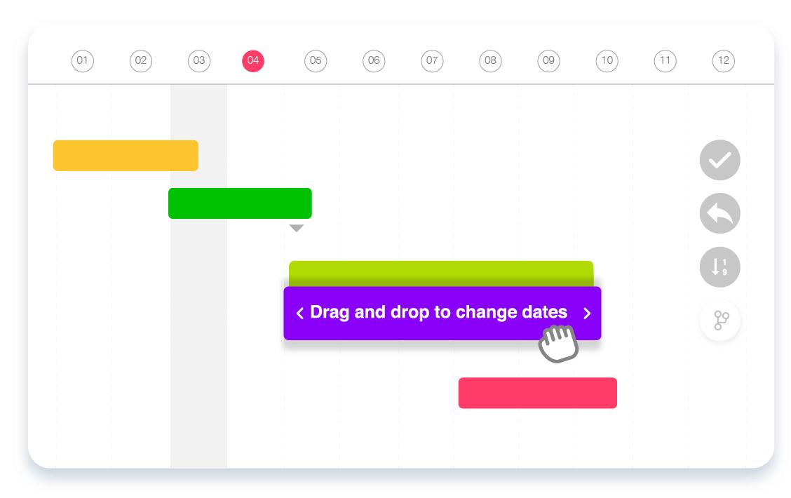 Online Gantt Chart Software Drag and Drog