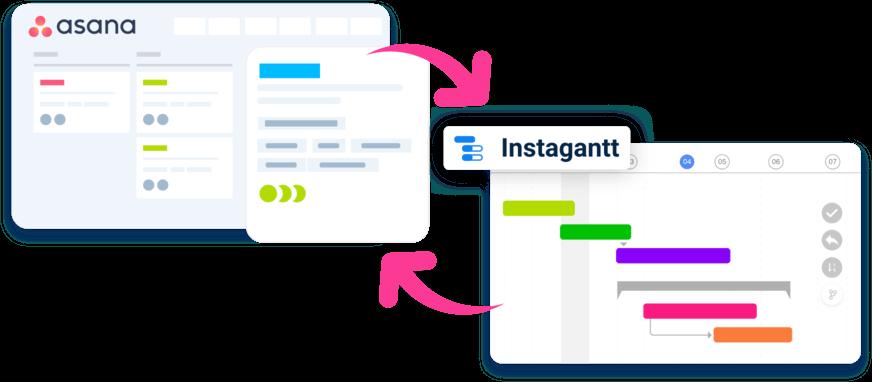 Online Gantt Chart Software Instagantt Asana Integration
