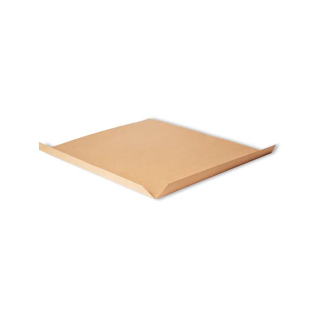 A brown slip sheet.