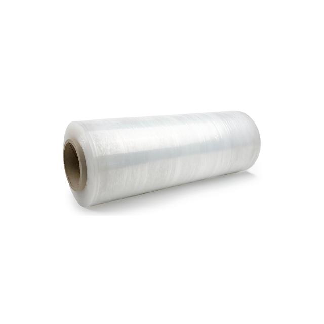A roll of stretch wrap.
