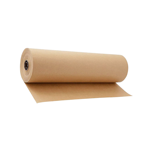 A roll of brown kraft wrapping paper.