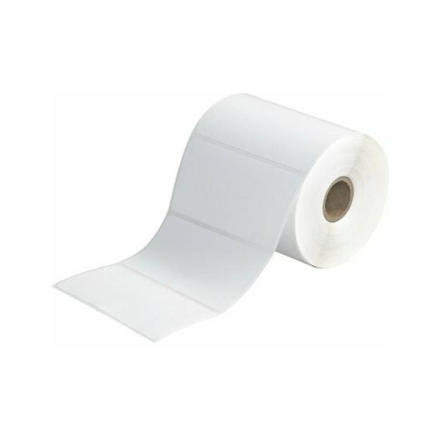 A roll of mailing labels.
