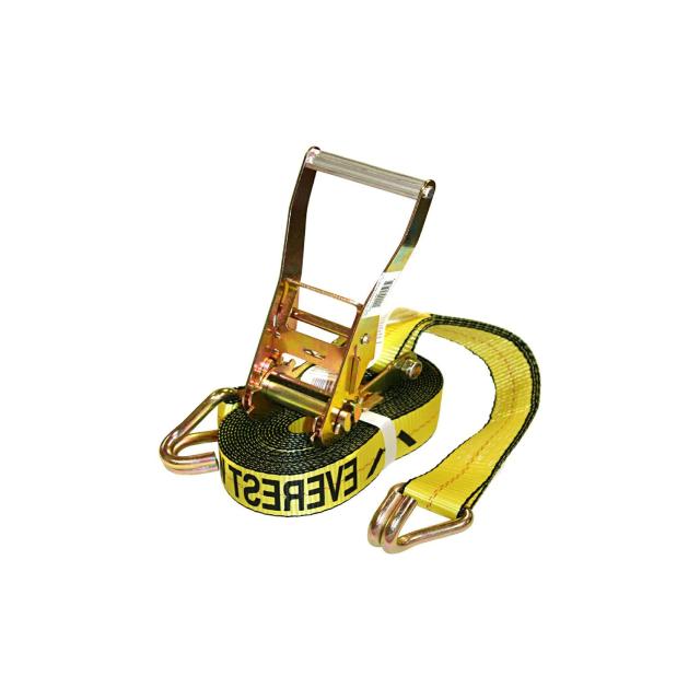 A heavy duty ratchet strap.