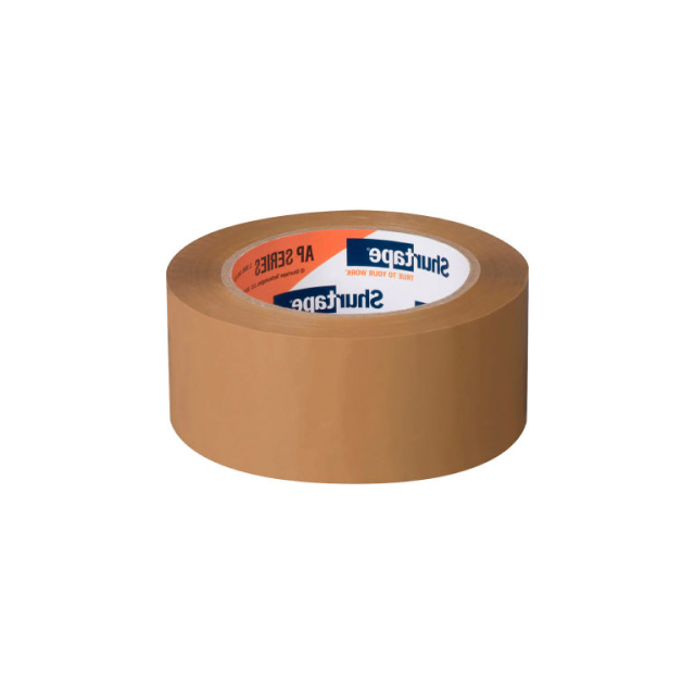 A roll of brown duct tape.