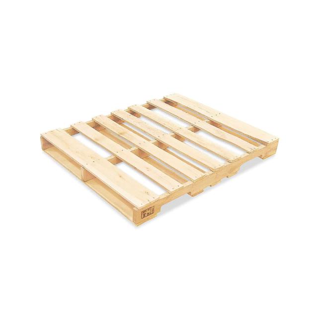 A wooden pallet.