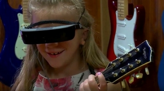 Special glasses give 7-year-old girl the gift of sight