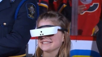 Legally Blind Girl Joins George Canyon In Singing Of National Anthem (NHL)