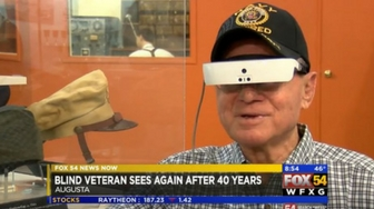 Augusta veteran can see for first time in 40 years thanks to new technology