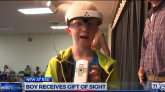 Legally Blind Boy Surprised With Present He's Always Dreamed Of: Sight
