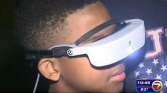 Legally Blind Boy Uses eSight To Actually See Fourth of July Fireworks