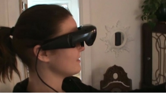Technology gives sight to legally blind artist