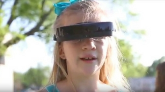 A Visually Impaired Girl Uses eSight to See the Easter Bunny for the First Time