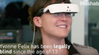 Mashable: These glasses give sight to the legally blind