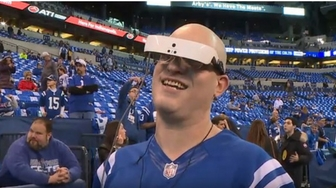 Legally Blind NFL Fan Delivers Game Ball For Colts