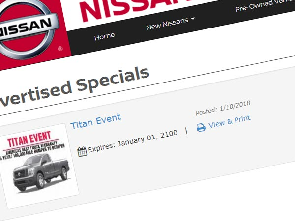 Weekly Vehicle Ad Display Image