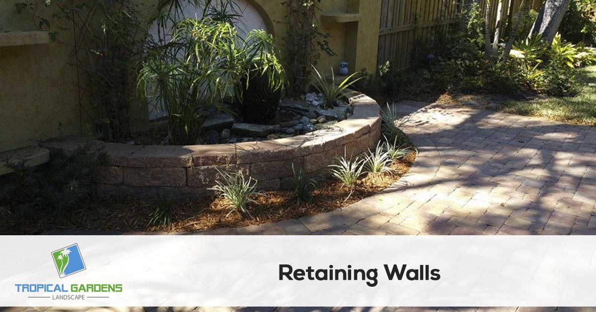 retaining wall contractor in sarasota florida