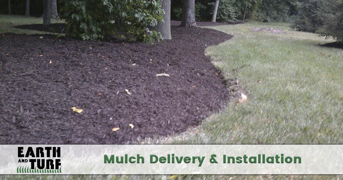 landscape mulch installation