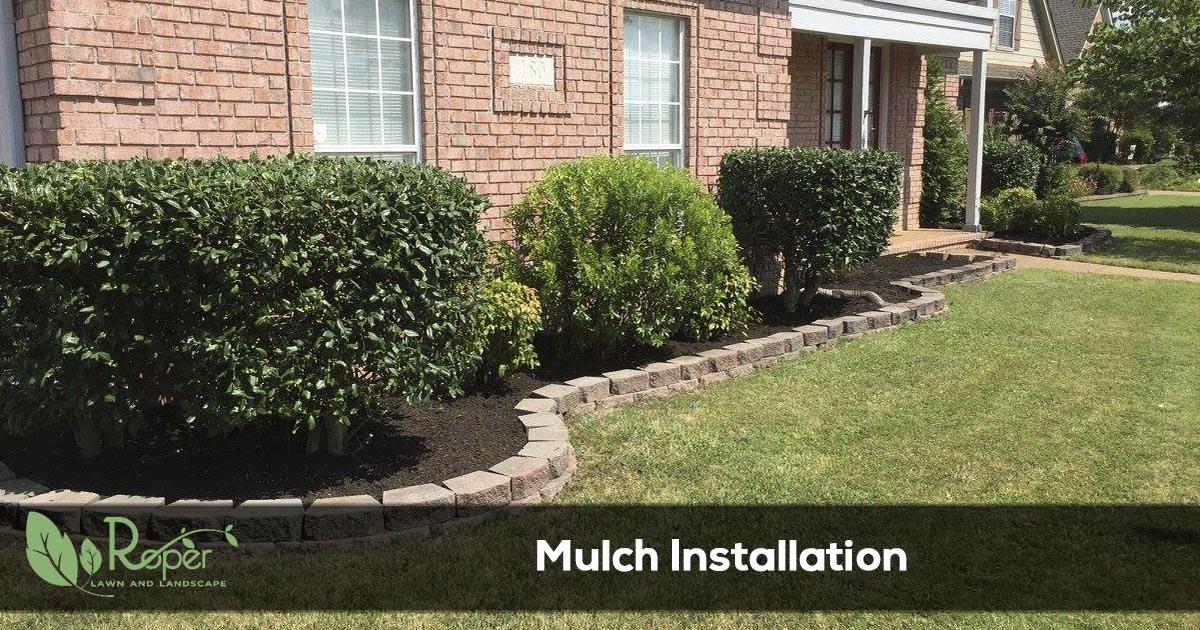 landscape mulch installation service