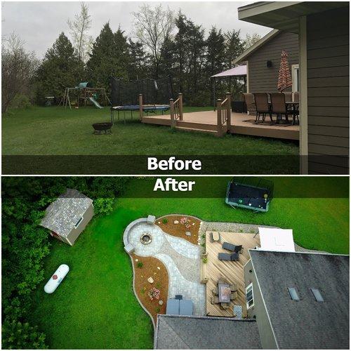 landscape design before and after
