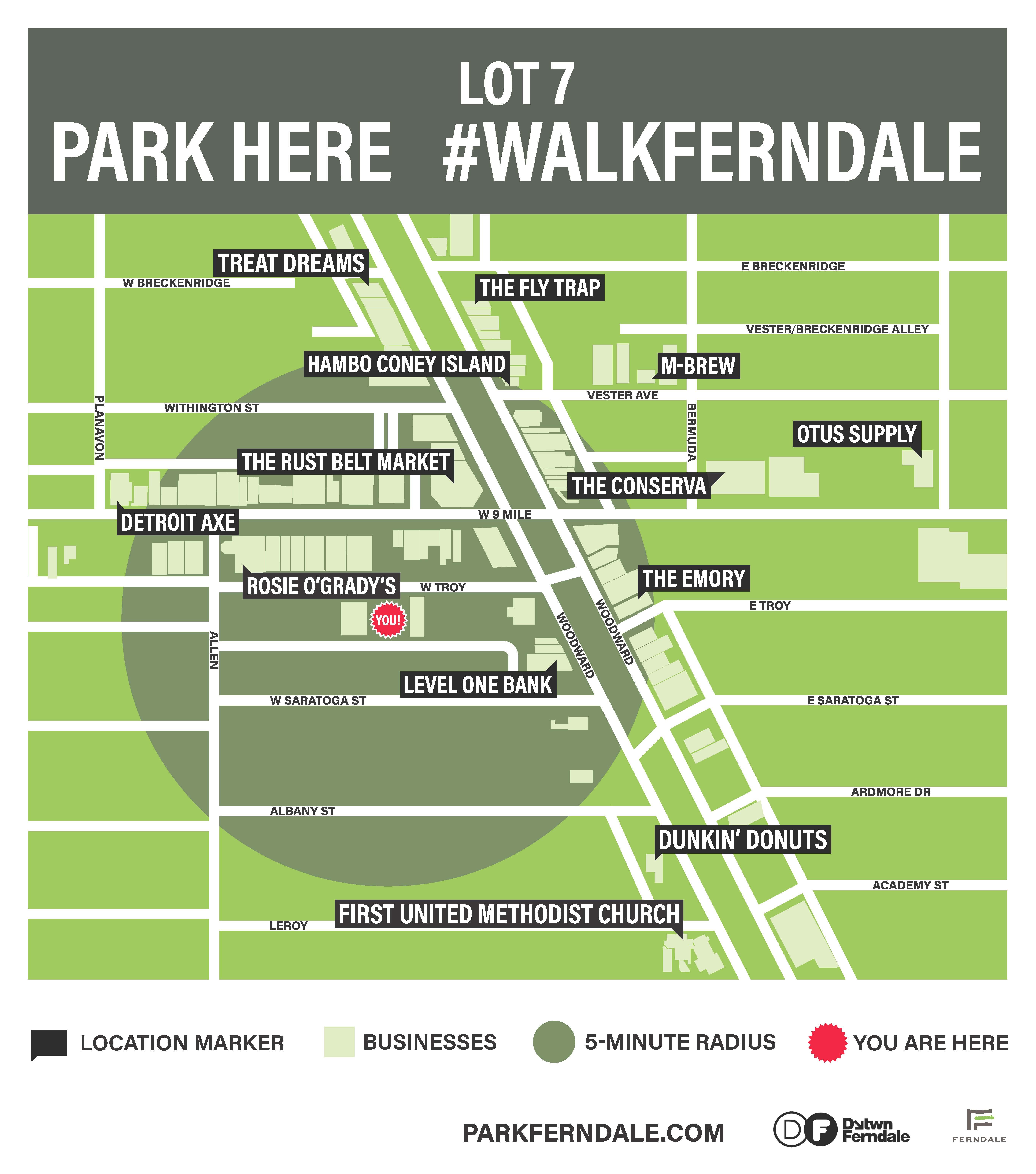 Ferndale Michigan Map.Park Ferndale