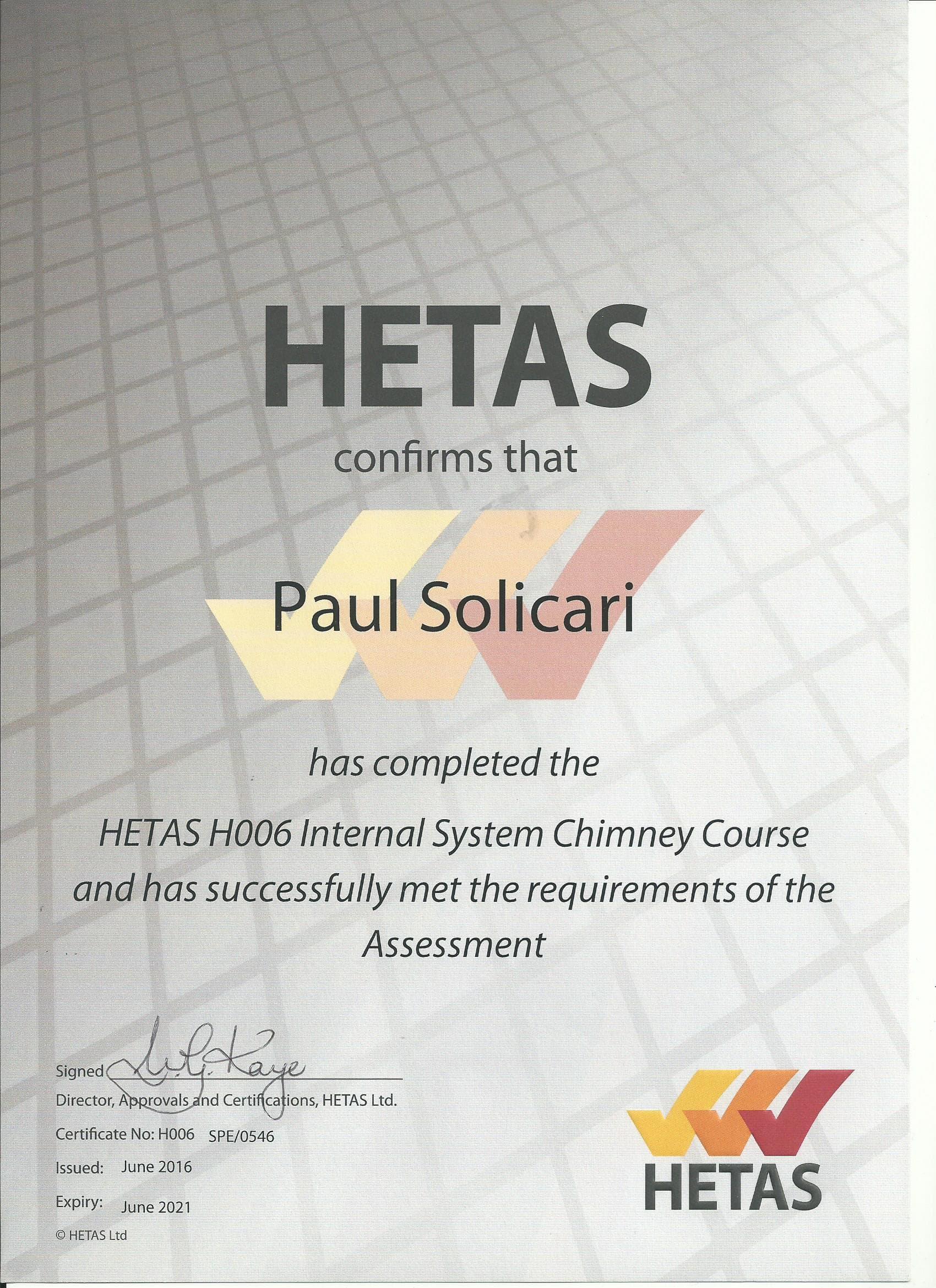HETAS H006