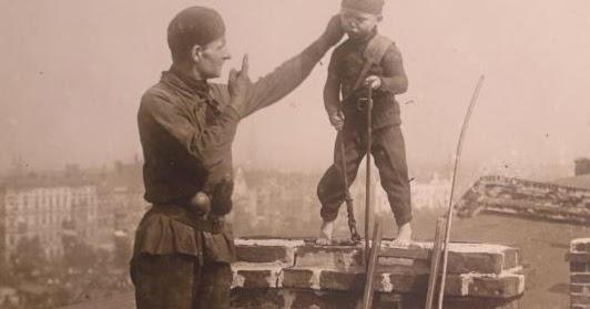 Chimney climbing boy