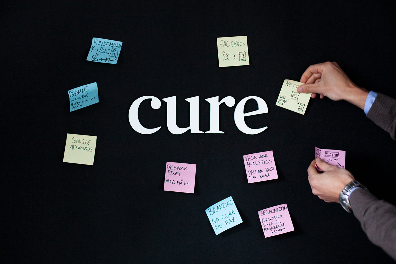 Cure prosess