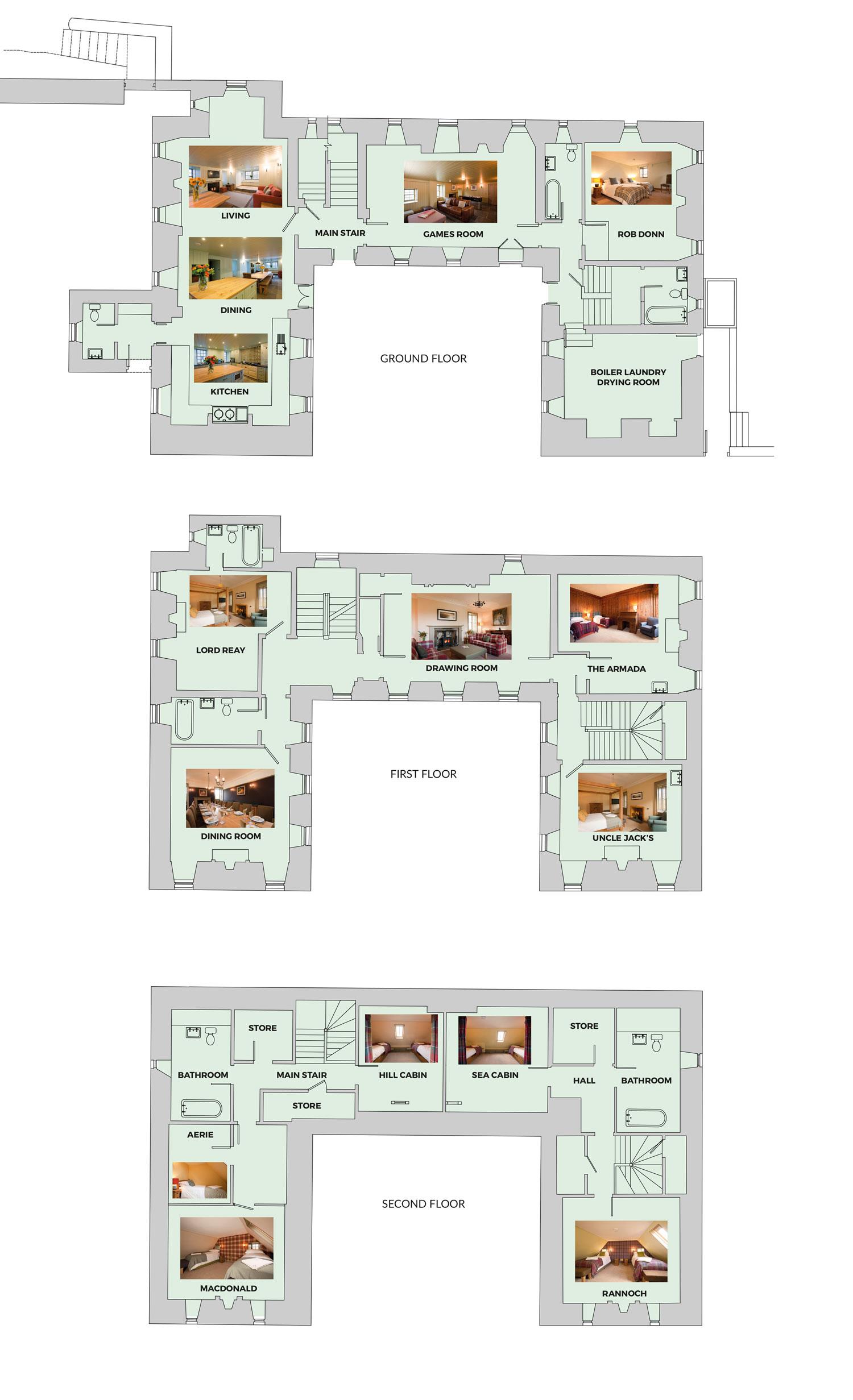 Elliot Houses - Balnakeil House Floor Plans
