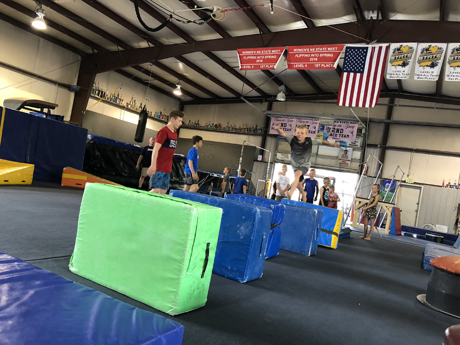 Little Ninja's at a NinjaVenture Training event