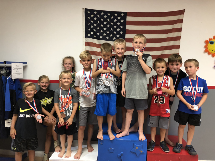 Ninja medal winners at a NinjaVenture Training event