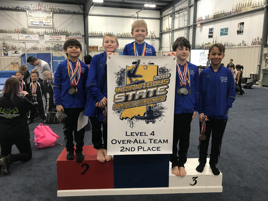 Boys team Level 4   2nd place Over-all team