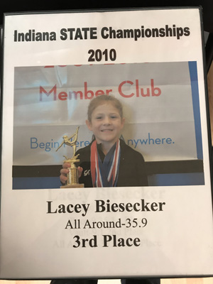 Lacey: All Around 3rd place | 2010