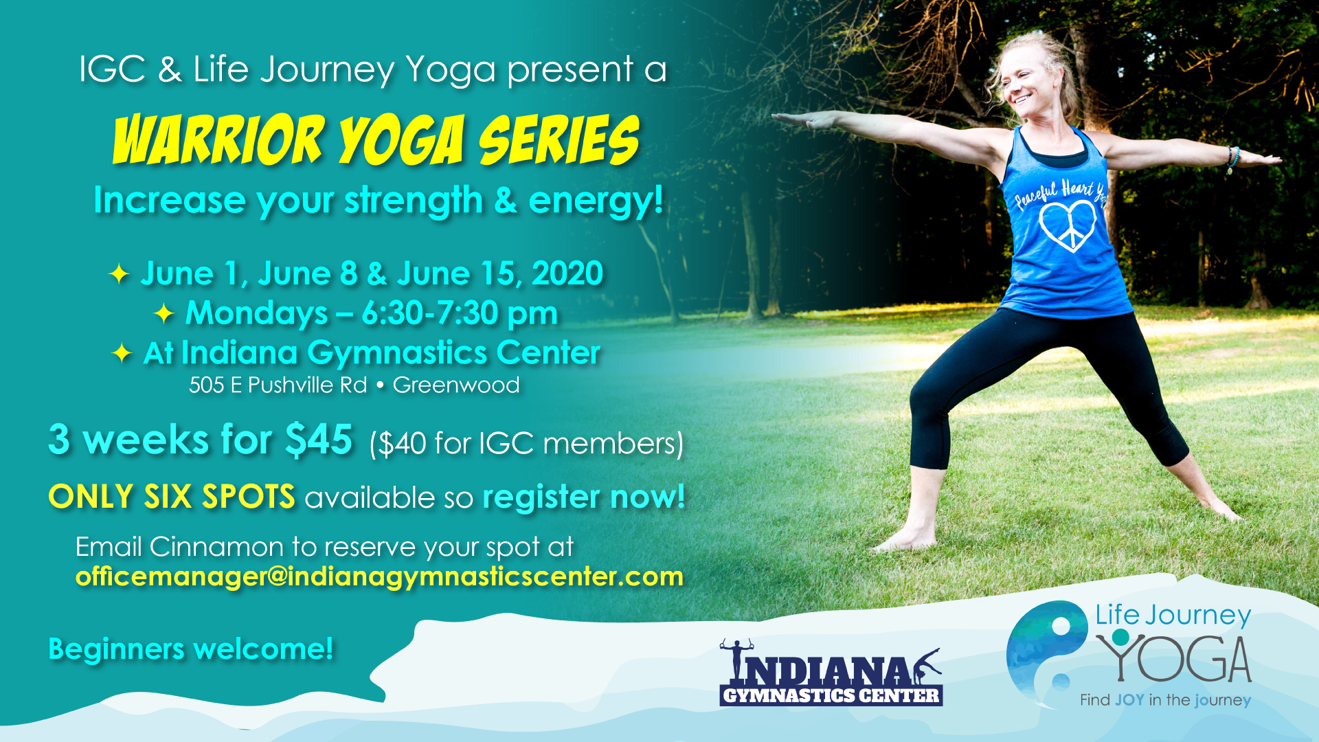 Warrior Series Yoga | Life Journey Yoga | Indiana Gymnastics Center