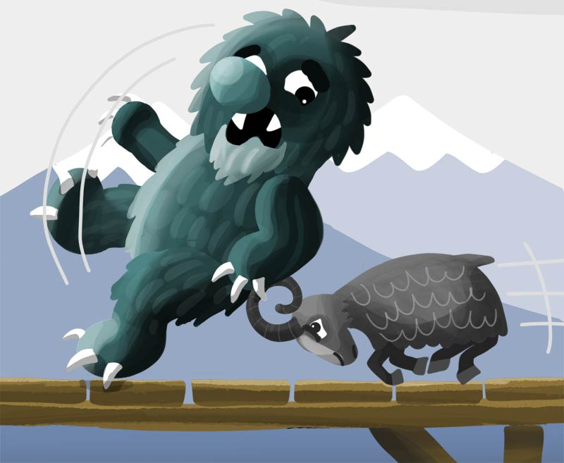 The Three Billy Goats Gruff: Story & audio: The Fable Cottage