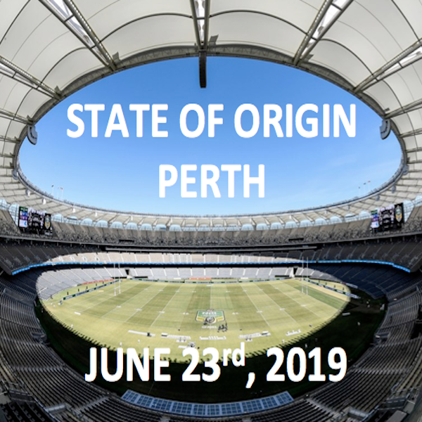 State of Origin in Perth. June 23rd 2019.