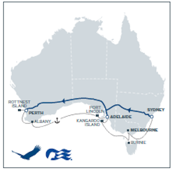 RAIL & SAIL - South West Wanderer - Indian Pacific
