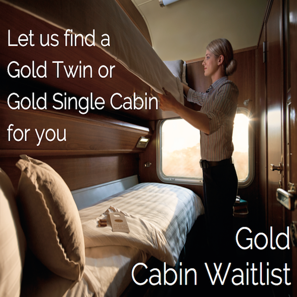 2019 - Waitlist for Gold Service Cabins
