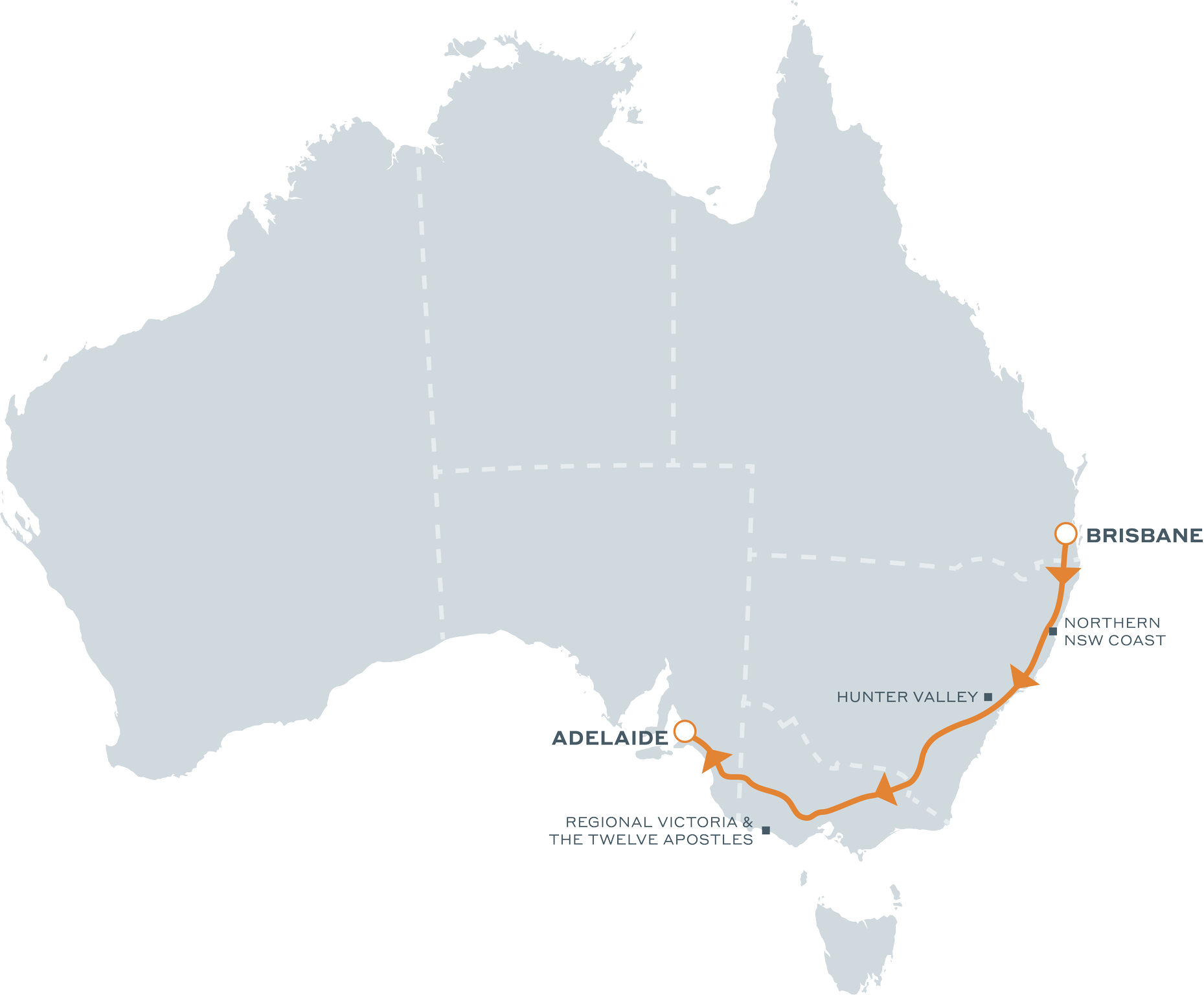 Brisbane to Adelaide