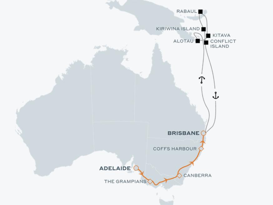 PNG Island Paradise - Adelaide to Brisbane